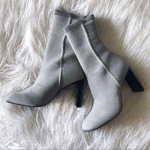 Rag & Bone Ellis Slim-Knit Block Heel Sock Boot